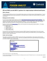 IRS and PBGC provide MAP-21 guidance for single-employer ...