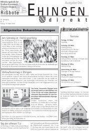 Wenn es professionell, qualitativ hochwertig und ... - Stadt Ehingen
