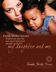 Annual Report 2009 Family Shelter Service