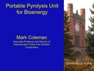 Portable Pyrolysis Unit for Bioenergy by Dr. Mark Coleman (PDF)