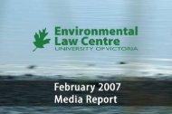 ELC-media-report-Feb.. - The Environmental Law Centre