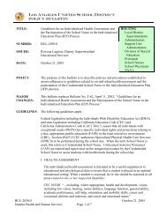 Policy Bulletin BUL-2030.0 October 21, 2005 Student Health ... - OEHS
