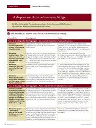 Fahrplan zur Unternehmensnachfolge