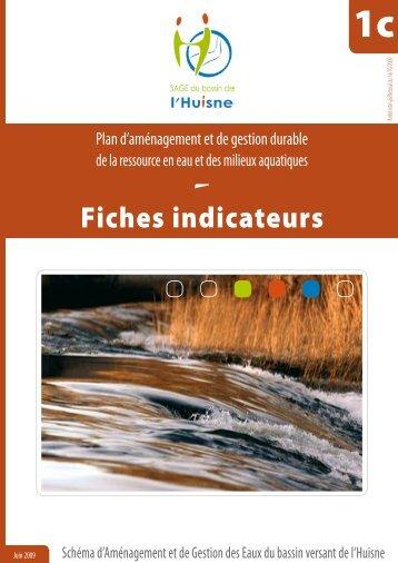 """PAGD : annexe 1c """"Fiches indicateurs"""" - (SAGE) du bassin de l'Huisne"""