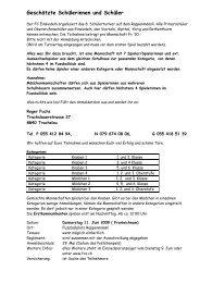 Anmeldeformular - Fussballclub Einsiedeln - FC Einsiedeln