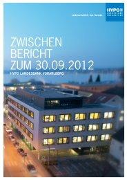 3. Quartalsbericht 30.09.2012 - Hypo Landesbank Vorarlberg