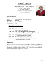 Dr. Mohammed A. Abu Rumman