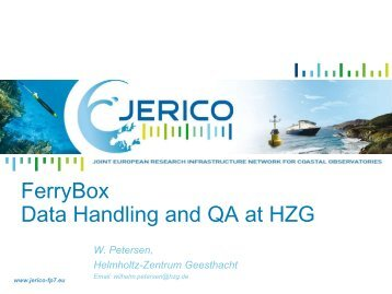 FerryBoxes FB data handling and real-time quality ... - Jerico - FP7