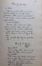 Kronika obce – shrnutí událostí za roky 1900–1910
