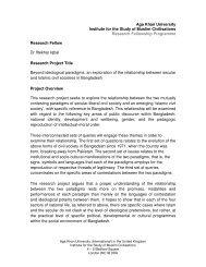 Beyond ideological paradigms - Aga Khan University