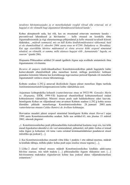 Kohtumenetluse pikkus Euroopa Nõukogu liikmesriikides Euroopa ...