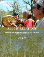 ALL MY RELATIONS - Community Foundations of Canada