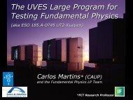The UVES Large Program for Testing Fundamental Physics
