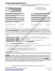 este formulario debe completarse en inglés orden ... - Supreme Court