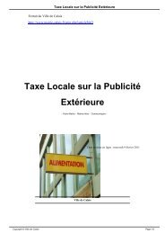 Taxe Locale sur la Publicité Extérieure - Ville de Calais