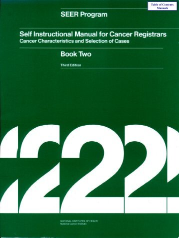 Seer Program Self Instructional Manual For Cancer Registrars