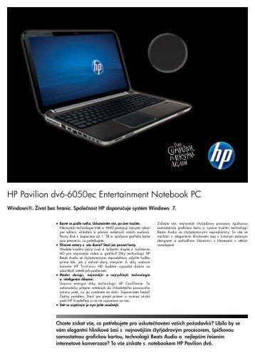 HP Pavilion dv6-6050ec.pdf - HPmarket.cz