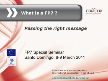 How to present FP7