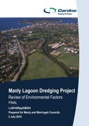 Manly Lagoon Dredging Project - Manly Council - NSW Government