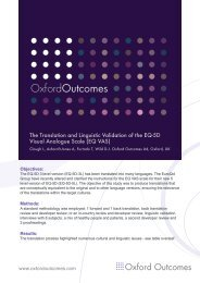 EQ VAS - Oxford Outcomes