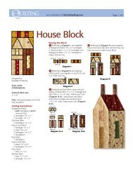 to download the FREE House Quilt Block pattern. - McCalls Quilting