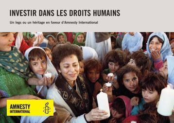 investir dans les droits humains - Amnesty International Schweiz