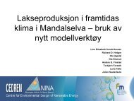 Lakseproduksjon i framtidas klima i Mandalselva ... - Energi Norge