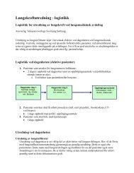 Lungekreftutredning - logistikk
