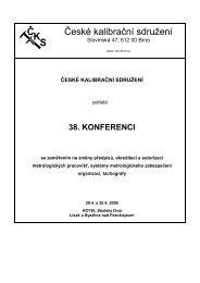 38. konferenci - České kalibrační sdružení