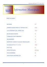Informations Municipales - Arcey