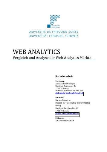 Kapitel 4 Web-‐Analytics-‐Anbieter im Vergleich - DiUF