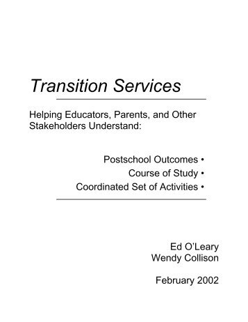 Ed O'Leary's Transition Services Guide