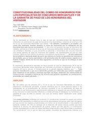 constitucionalidad del cobro de honorarios por los especialistas de ...