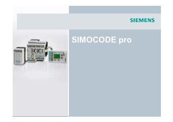 SIMOCODE pro - Siemens