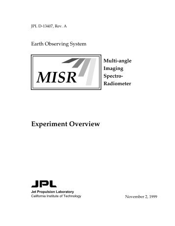 MISR: Experiment Overview - NASA's Earth Observing System