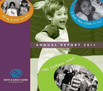 I love the Club. It's Fun! - Boys & Girls Clubs of Sonoma Valley