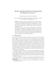 Service and Protection Level Agreements for Business Processes *