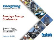 Barclays 2012 CEO Energy/Power Conference - Peabody Energy