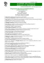 mardi 01 janvier 2013 - Académie des sciences morales et politiques