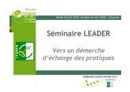 Séminaire LEADER - Réseau Rural Français