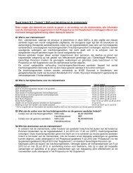 """Royal Imtech N.V. (""""Imtech"""") Q&A met betrekking tot de claimemissie ..."""