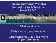 Power Point from Meeting - City of Bremerton