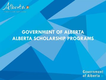 how to get scholarship in alberta