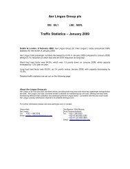 Aer Lingus Group plc Traffic Statistics – January 2009