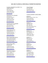 2011-2012 NATIONAL OFFICER & COMMITTEE ROSTER - AmVets