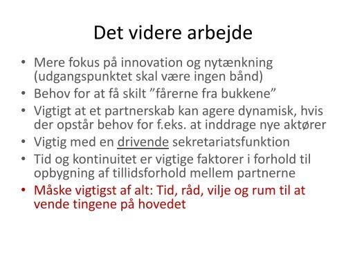 Partnerskaber for innovation - Danish Water Forum