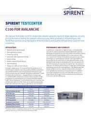 SPIRENT TESTCENTER - Spirent Communications