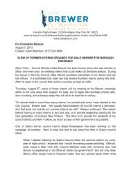 Slew Of Former Interns Organize For Gale Brewer For Borough ...