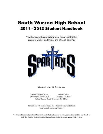South Warren High School Faculty - Warren County Schools