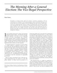 The Morning After a General Election: The Vice-Regal Perspective